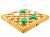 Chess board and checkers — Stock Photo