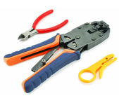 Crimper and wire cutter — Stock Photo