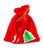 Weihnachten-sack mit den geschenken — Stockfoto