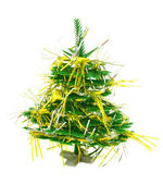 Christmas tree with garland — Stock Photo