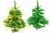 Two Christmas trees — Stock Photo