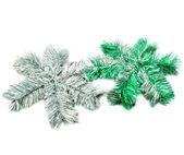 Two sparcle snowflakes — Stock Photo