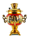 Old golden samovar — Stock Photo
