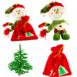 Set of Christmas accessories - Foto de Stock