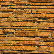 A Stacked Stone Wall Texture — Stock Photo