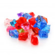Colored assorted gemstones isolated — Stock Photo