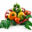 Basket with Ripe Tomatoes (Still Life) I — Stock Photo #1314555