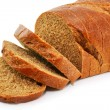 Closeup of whole wheat bread isolated — Stock Photo