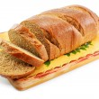 Royalty-Free Stock Photo: Whole wheat bread on the table wooden bo