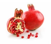 Ripe Sliced Pomegranate Fruit with Seeds — Stock Photo