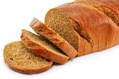 Closeup of whole wheat bread isolated — 图库照片