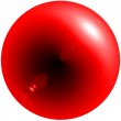 Abstract red sphere with shadow and glar — Stock Photo