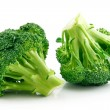Ripe Broccoli Cabbage Isolated on White — Stock Photo