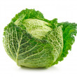 Ripe Savoy Cabbage Isolated on White — Stock Photo #1328416
