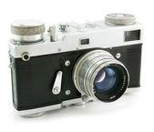 Old film photo camera — Stock Photo