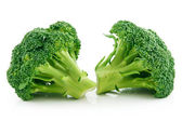 Col brócoli madura aislado en blanco — Foto de Stock