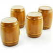 Gold tuns from wine cellar isolated — Stock Photo