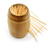 Bunch of toothpick isolated — Stock Photo