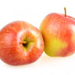 Two Ripe Red Apples Isolated on White — Stock Photo
