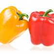 Ripe Yellow and Red Paprika Isolated — Stock Photo