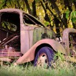 Stock Photo: Very rusty old car