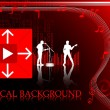 Musical background — Imagen vectorial