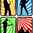 Rock band, part 2 — Stock Vector