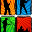 Rock band, part 3 — Stock Vector