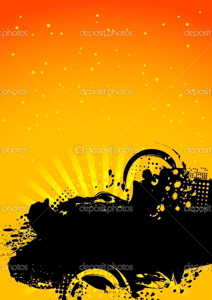 Bright contrast background: blots, beams and circles — Stock Vector #1290003