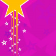 Background with star — Stock Vector