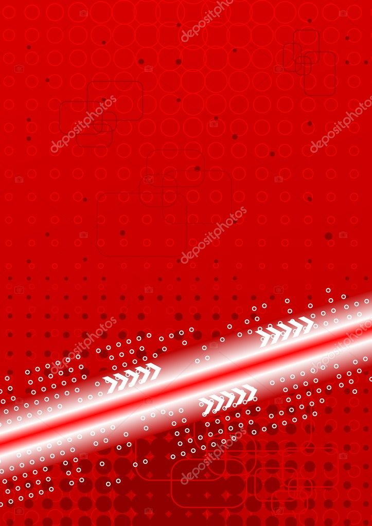 Bright contrast technical background: red and white — Stock Vector #1512772