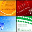 Royalty-Free Stock Vector Image: Set of colorful business cards