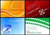 Set of colorful business cards — Stock Vector