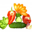 Fresh cut vegetables - Stock Photo