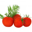 Stock Photo: Tomatoes and dill