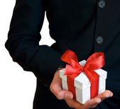 A man with a gift — Stock Photo