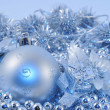 Silver blue background ball 2 — Stock Photo #1289079