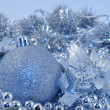 Silver blue background ball — Stock Photo #1289084