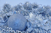 Silver blue background ball — Stock Photo