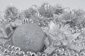 Silver background ball — Stock Photo