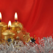 Red burning candles 2 - Stock Photo
