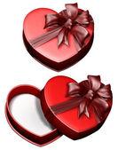 Cinta de regalo caja corazón — Foto de Stock