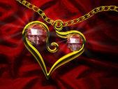 Ruby Heart — Stock Photo