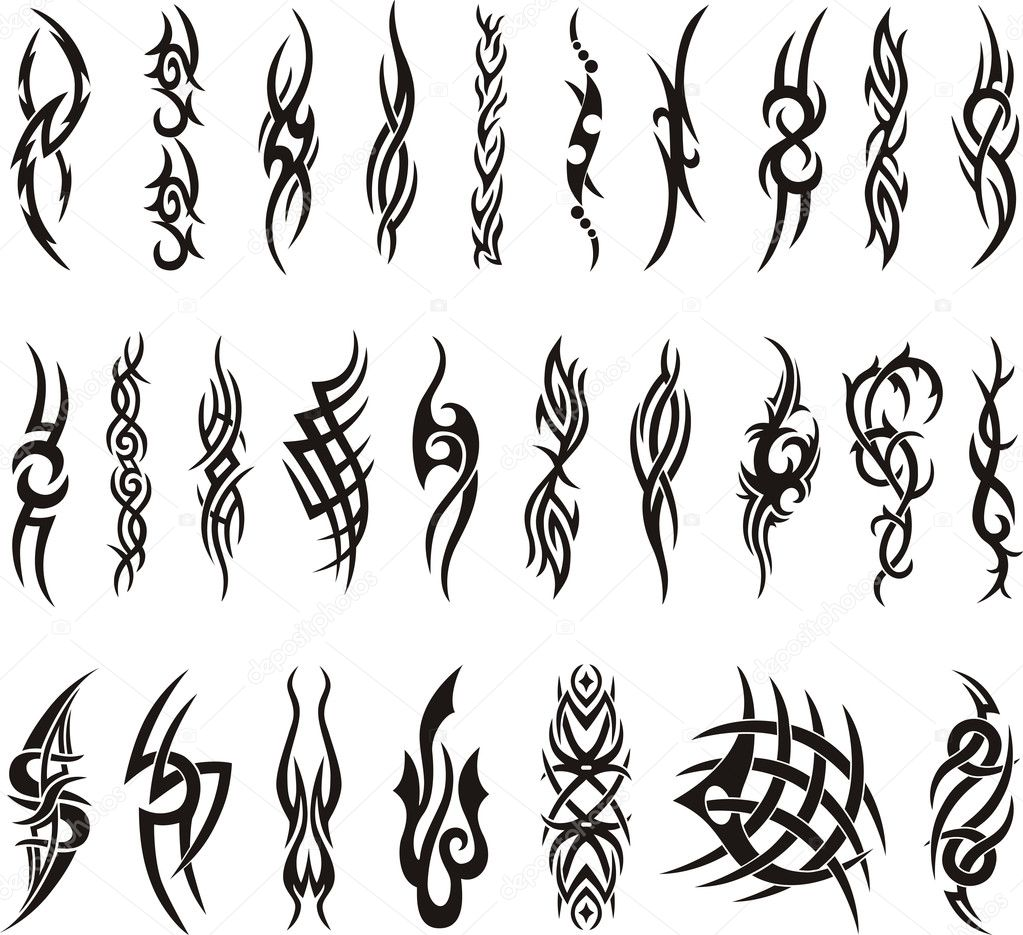 Collection Tattoo Vector