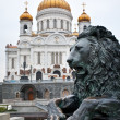 Element of the monument to Alexander II at the Cathedral of Christ the Savi - ストック写真