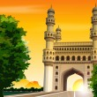 Stock Photo: Charminar, hyderabad, india