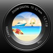 Stock Photo: Camerview of beach