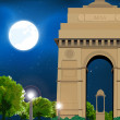Постер, плакат: Night India gate