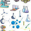 Collection of laboratory equipments — Stock Photo