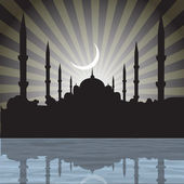 Mosque with rays, — Stock Photo